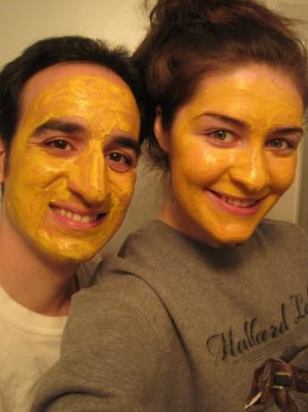 Easy Miracle Face Mask! from Food.com: I LOVE this face mask! It is only 2 ingredients, but makes makes my pores look nonexistent, helps get rid of pimples (I almost never break out now), moisturizes and makes your face VERY smooth. Enjoy!