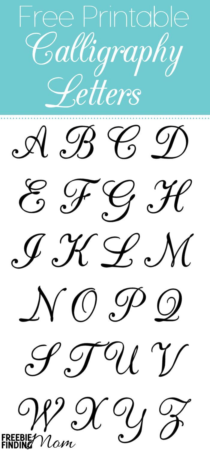 Free Printable Calligraphy Letters are useful for a myriad of projects for school, crafts, scrapbooking, cards, letters, invitations, and more! Whether you are using them for personal or business be sure to keep these free printables handy. Go ahead and p