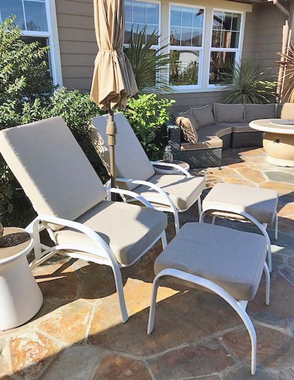 Patio Chairs With Ottomans Stool Chair Design Replacement Sunbrella Cushions Revive And