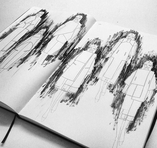 Fashion Sketchbook - modern tailoring, fashion design drawings; fashion sketches; fashion portfolio