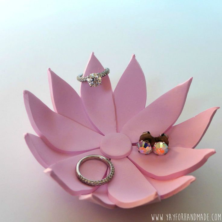 Polymer clay goes from kitschy to zen with this flower ring holder. Bonus: This project takes less than an hour — and it's much prettier than your Kindergarten pottery.  Get the tutorial at Yay for Handmade! »  - GoodHousekeeping.com