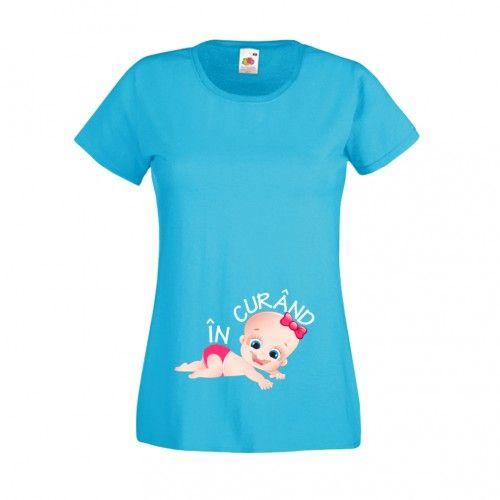 Tricou bebe fetita - in curand Tricou adorabil pentru mamici gravide cu bebe fetita care isi anunta sosirea in curand. Pret: 23.9 ron