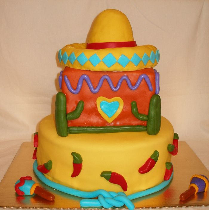 This Was A Fiesta Themed Cake For Couples Wedding Shower