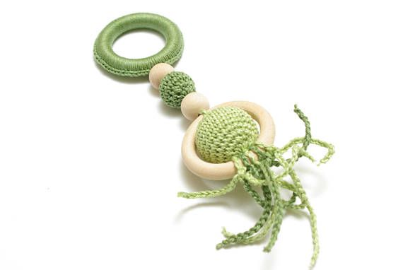Montessori toy crochet baby toy baby teether baby teething