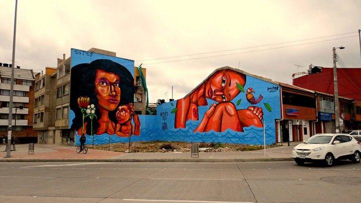 Потрясающие произведения уличного искусства из 20-ти городов мира,Богота, Колумбия