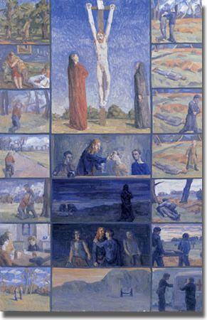 Crucifixion polyptych  Francis Hoyland (1930- ) 1962