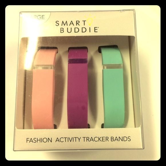 FitBit Flex Vibrant Bands FitBit Flex Extra Bands! FitBit not included this pack contains three extra bands only! Never worn! Size Large FitBit Jewelry Bracelets
