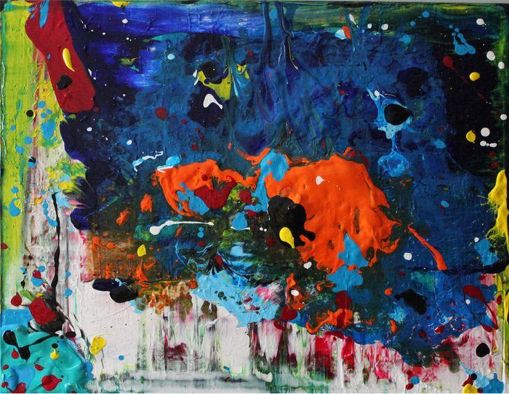 New V. acrylic painting on canvas 70 cm x 60 cm NO.312