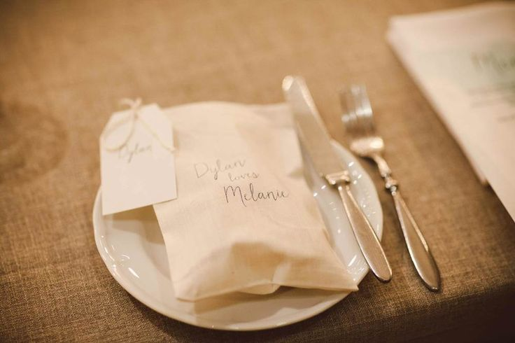Dylan loves Melanie // Stationery by Two of a Kind Events. Photo by The White Tree.