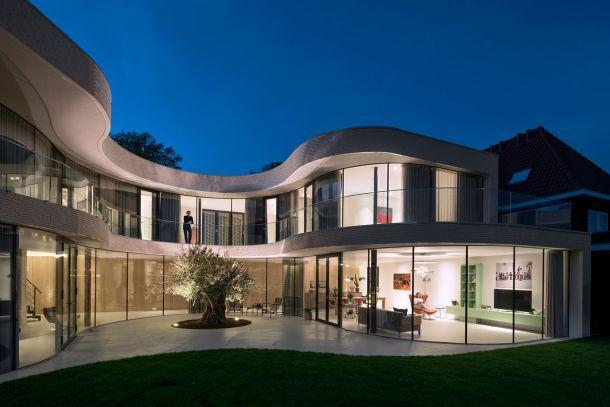 Κατοικία με γυάλινη όψη στο Ρόντερνταμ Αρχιτεκτονική μελέτη: MVR