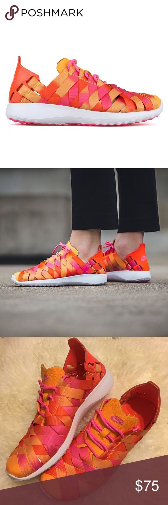 Nike Juvenate Woven Sneakers brand new nike juvenate woven sneakers in color pink blast / laser orange • women's US size 7 • fits true to size • in perfect condition, very small snag on the right shoe, visible in the last photo • retail $110 Nike Shoes Athletic Shoes