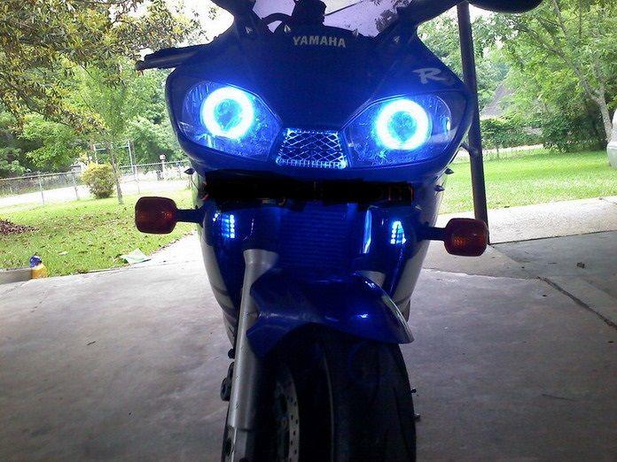 1999 yamaha R6 projector kit blue 2000 2001 2002