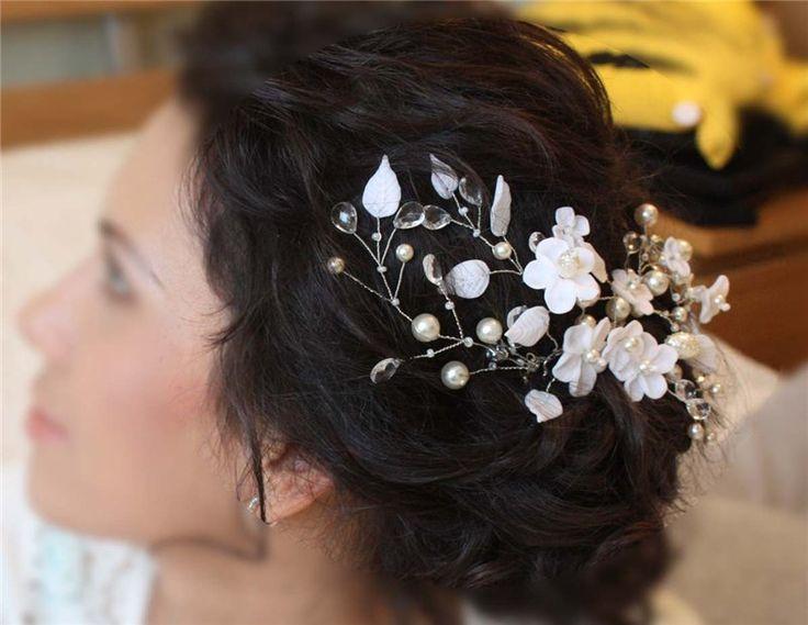 Свадебные украшения в прическу своими руками мастер класс