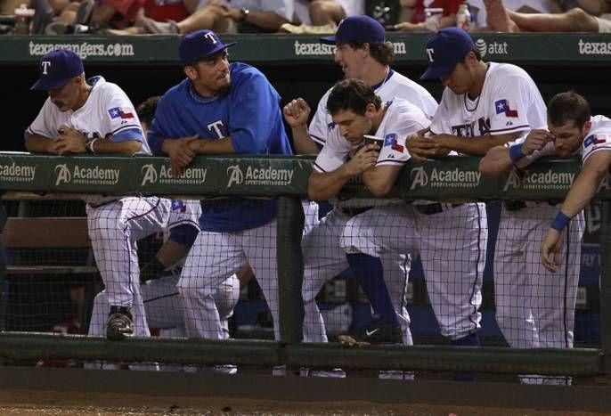 Photos: Matt Garza gets to know new teammates, Joe Nathan gets angry with ump as Rangers lose | Texas Rangers News - Sports News for Dallas, Texas - SportsDayDFW
