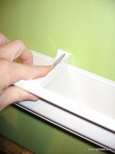 screwing bracket for  rainguttershelves http://raisingolives.com/2009/07/raingutter-book-shelves-tutorial/