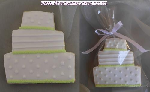 Lime Green and White Cake