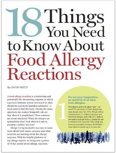 18 Things You Need to Know About Food Allergy Reactions from Allergic Living Read more in http://natureandhealth.net/