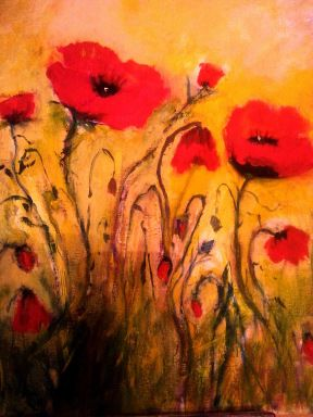 Poppies in the Field - Painted by Isabel Macleod