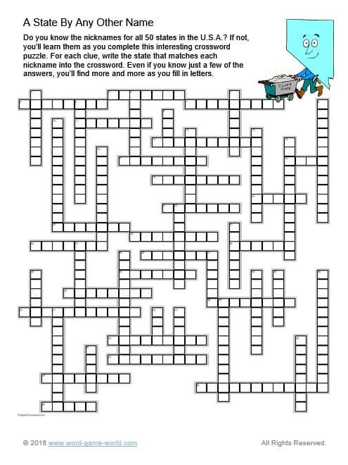 Free Crossword Puzzles Online Crossword Puzzles For Adults