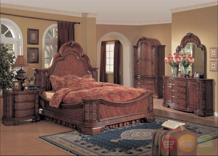 Hannah Traditional Bedroom Furniture Mansion Bed Solid Wood ~  Shopfactorydirect.com