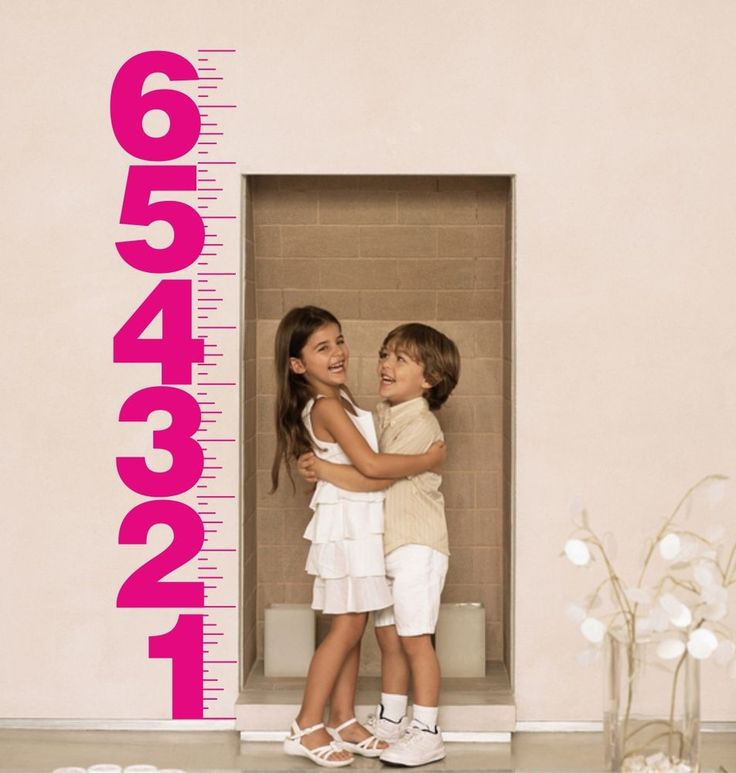 Children s Height Chart - Wall Art Sticker - Bedroom  Kitchen Playroom Nursery