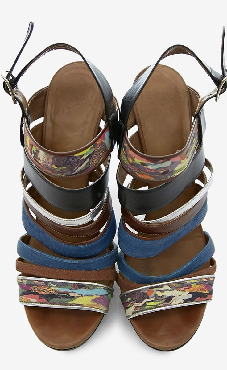 Fun strappy heels