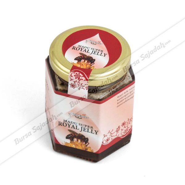 Royal Jelly merupakan makanan ratu lebah yang mengandung gizi tinggi yang baik bagi kesehatan tubuh. Kombinasinya dengan madu hutan lokal pilihan menjadikan Madu Super Royal Jelly yang terjamin kualitasnya ini semakin kaya akan khasiat & manfaat, sehingga cocok dijadikan asupan harian keluarga Anda.