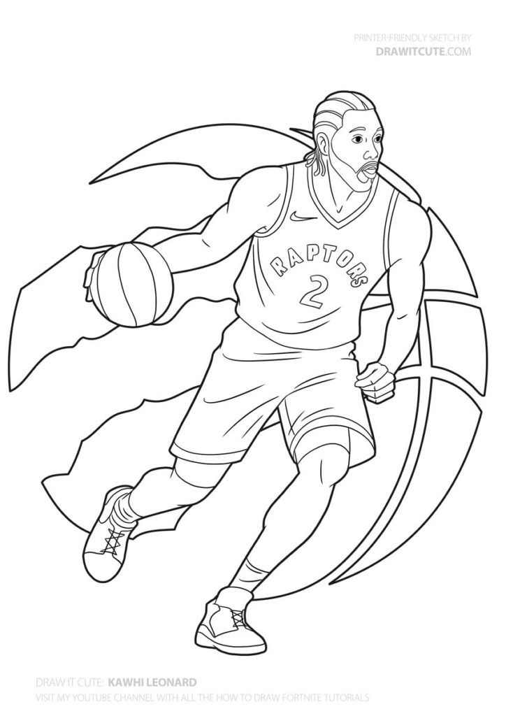 How To Draw Kawhi Leonard In 2020 Cute Coloring Pages Drawings