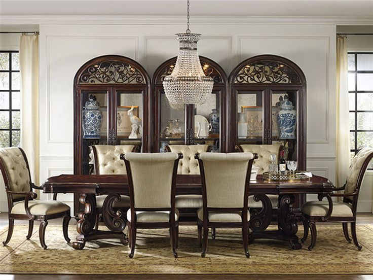 hooker furniture grand palais pedestal dining set