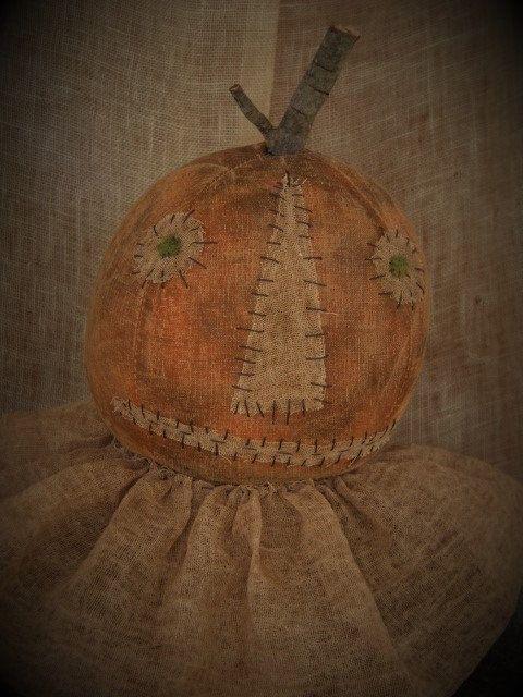Primitive Pumpkin Doll Primitive Doll by PrimitiveBlackHat on Etsy, $45.00