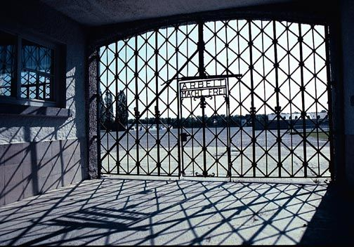 """The lie that was told to the prisoners of Dachau. """"Through work, freedom""""  Visiting Dachau was very humbling"""