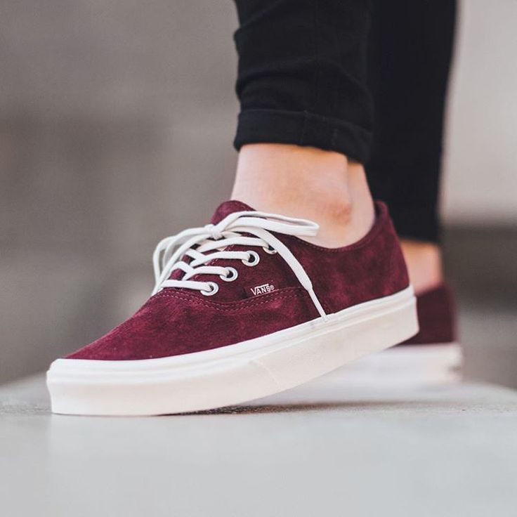 vans authentic suede maroon