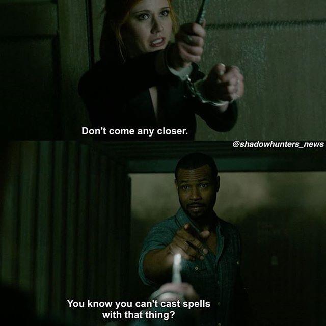 "#Shadowhunters 1x05 ""Moo Shu to Go"" - Clary and Luke"