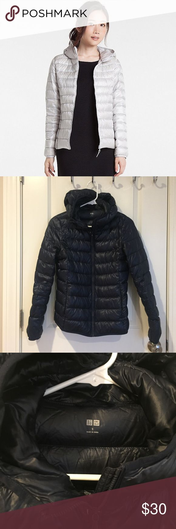 Uniqlo Ultra Light Down Parka Barely worn! Great for traveling because it's quite compact. First photo is the style. The color is navy. Uniqlo Jackets & Coats