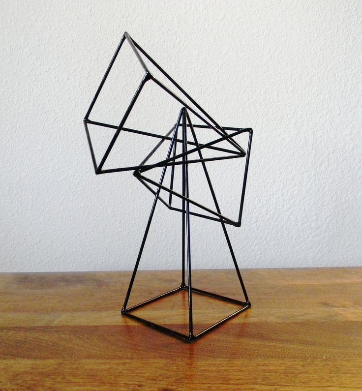 RESERVED Geometric Pyramid Sculptures Set of by RagNBoneVintage
