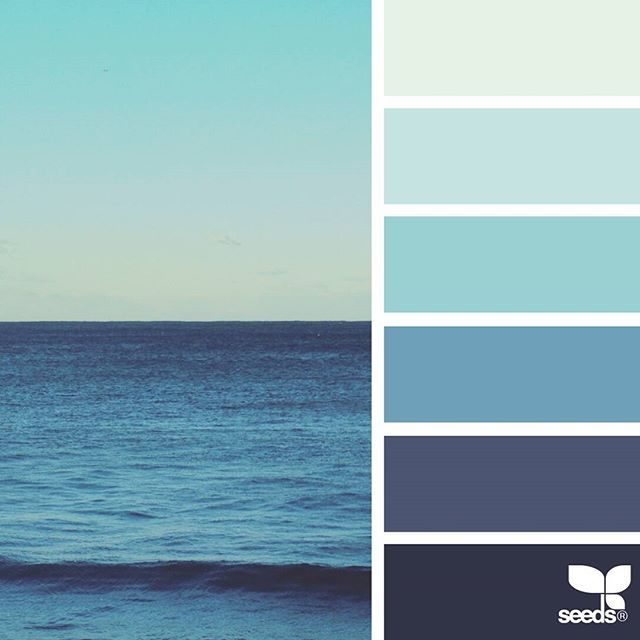 today's inspiration image for { sea blues } is by @thebungalow22 ... thank you, Steph, for another wonderful #SeedsColor image share!