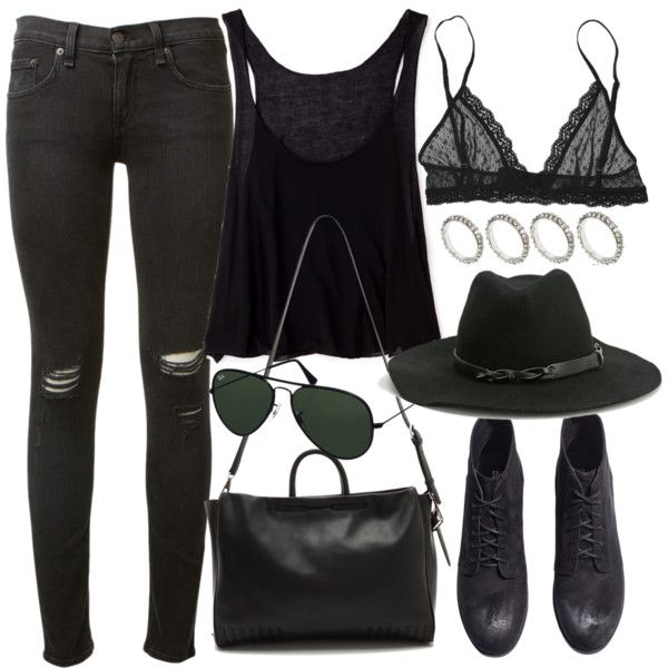 Sans titre #2049 by charline-cote on Polyvore featuring mode, Forever 21, rag & bone, Eberjey, H&M, 3.1 Phillip Lim, ASOS, Urban Outfitters and Ray-Ban