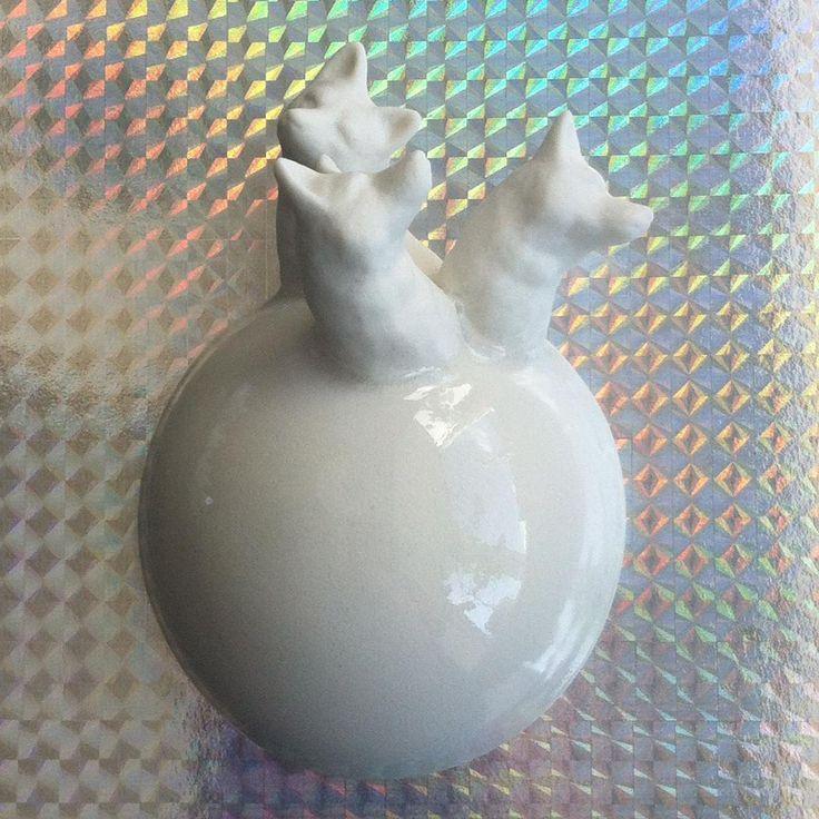 Disko-ræve  #disko #keramik #ræv #porcelæn #ceramicsculpture #ceramics #københavn