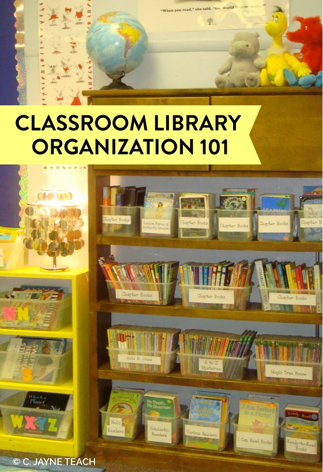 Step by step to organizing your classroom library.