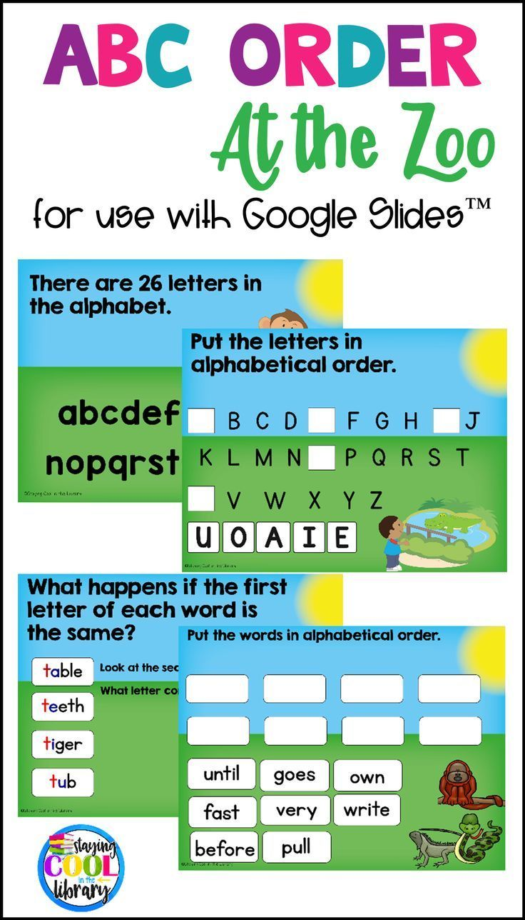ABC Order Practice for Google Slides (Alphabetical Order