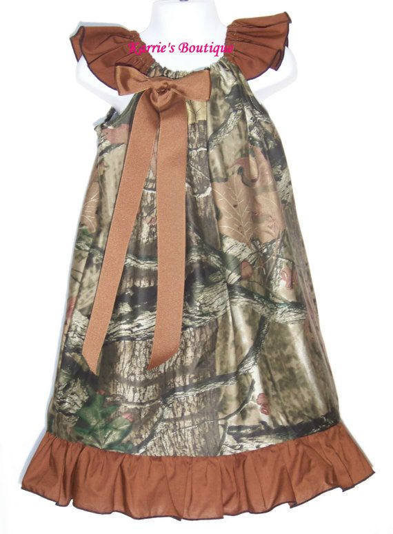 Camo Ruffle Dress / Brown / Beautiful / Mossy Oak Camo / Flower Girl / Wedding/ Newborn / Infant / Baby / Girl / Toddler / Boutique Clothing