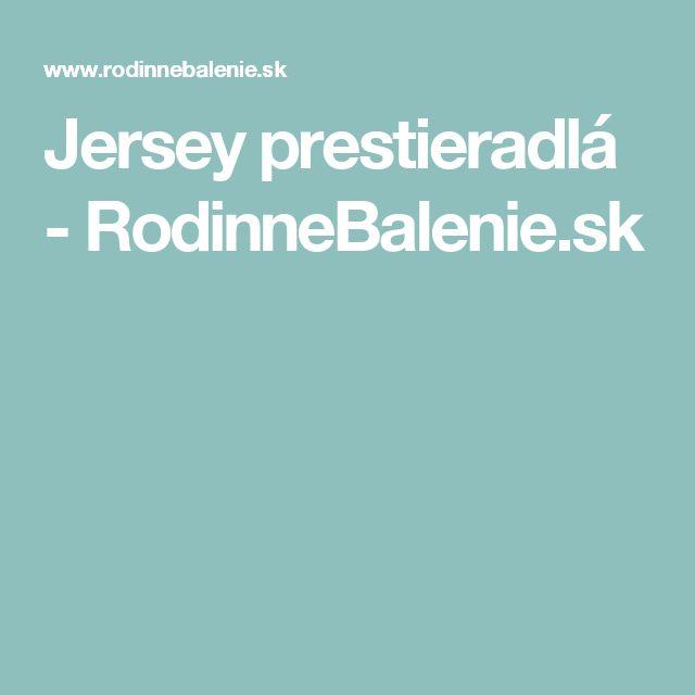 Jersey prestieradlá - RodinneBalenie.sk