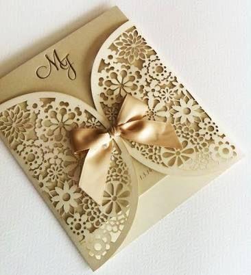 resultado de imagen para invitaciones de boda elegantes y modernas en dorado - Invitaciones De Boda Elegantes