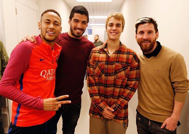 👑👑👑🌟 @leomessi @neymarjr @luissuarez9 #JustinBieber #FCBarcelona #igersFCB #ForçaBarça #Messi #Neymar #Suarez @fcbarcelona