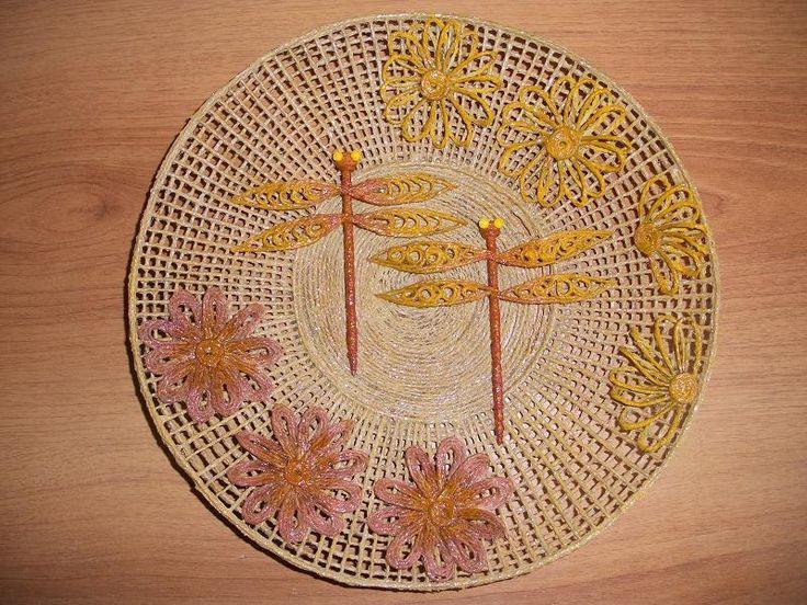 Тарелка-панно со стрекозками