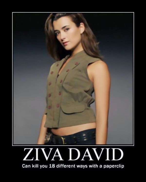 Ziva David can kill you 18 ways with a paperclip