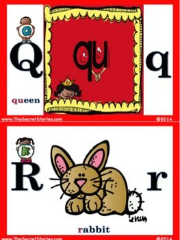 The SECRET STORIES® Vertical Alphabet Set! w/ sound-cues for the Superhero Vowels™, Sneaky Y™ Mommy e™ and even QU!