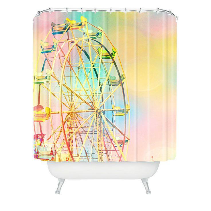 Shannon Clark Ferris Wheel Fun Shower Curtain | DENY Designs Home Accessories