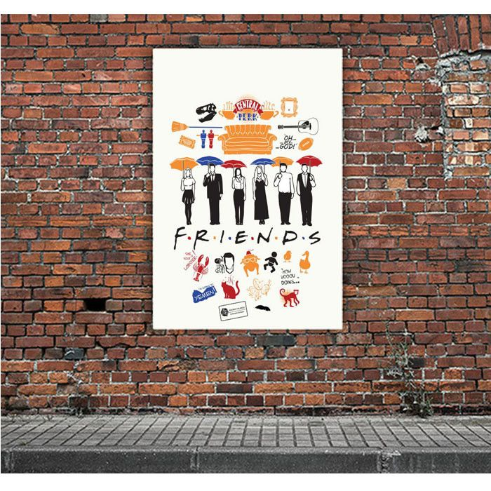 FRIENDS COLLAGE ARTWORK POSTERS