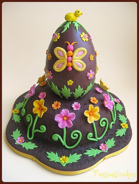 Easter Egg Cake.Wish I could make this.Easter Cake, Amazing Cake, Cake Decor, Eggs Cake, Chocolates Easter, Easter Eggs, Butterflies Cake, Birthday Cake, Chocolates Eggs